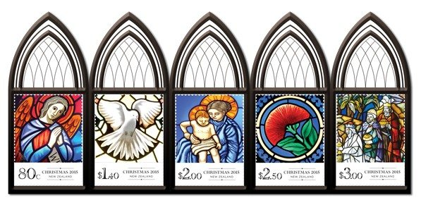 Stained-glass windows with religious motives… New Christmas stamps released