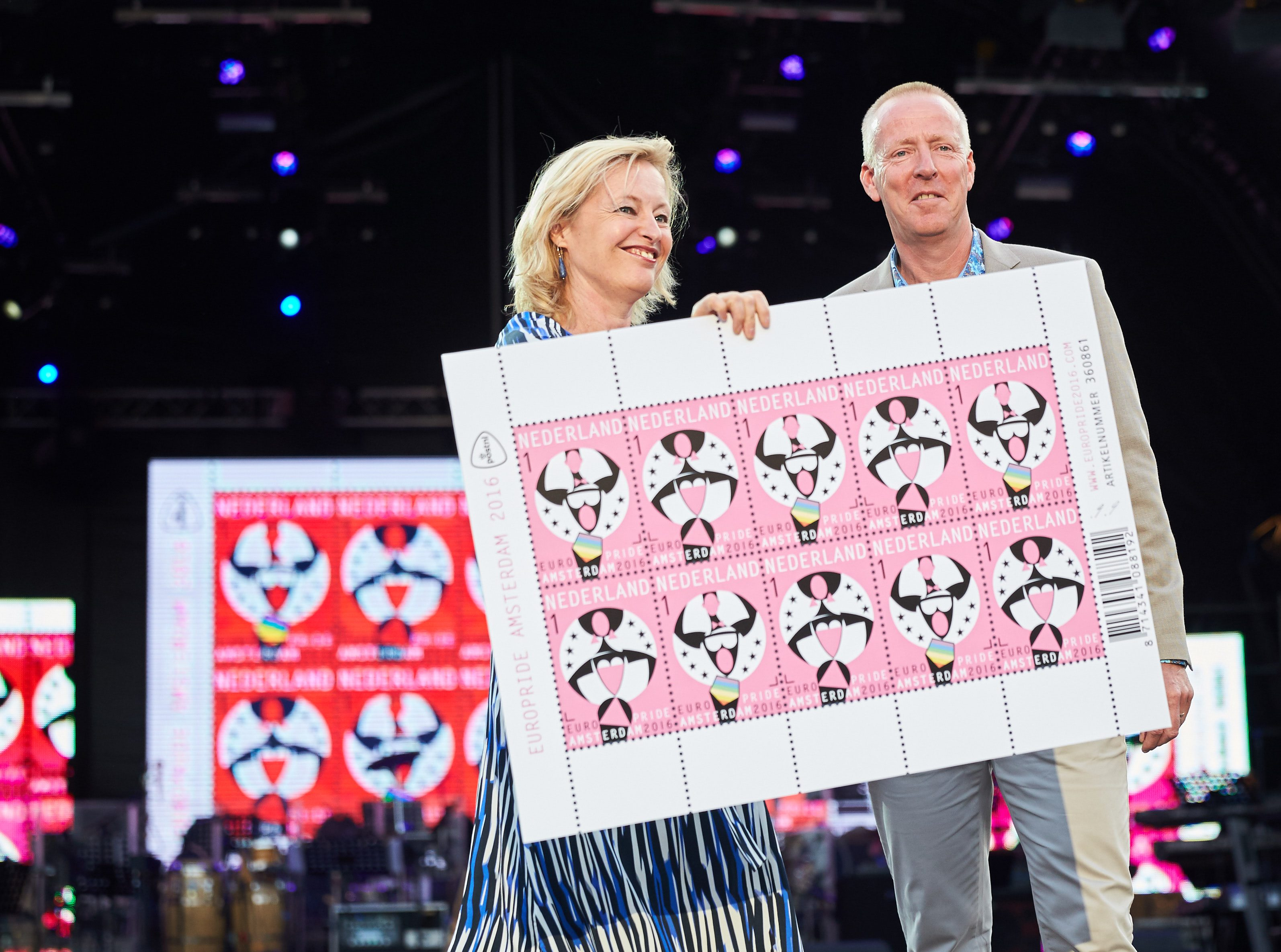 EuroPride 2016 – Join our Freedom! One Special stamp sheet released by PostNL