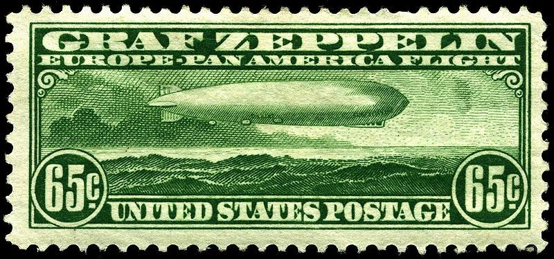 65c airmail Graf Zeppelin, United States, 1930