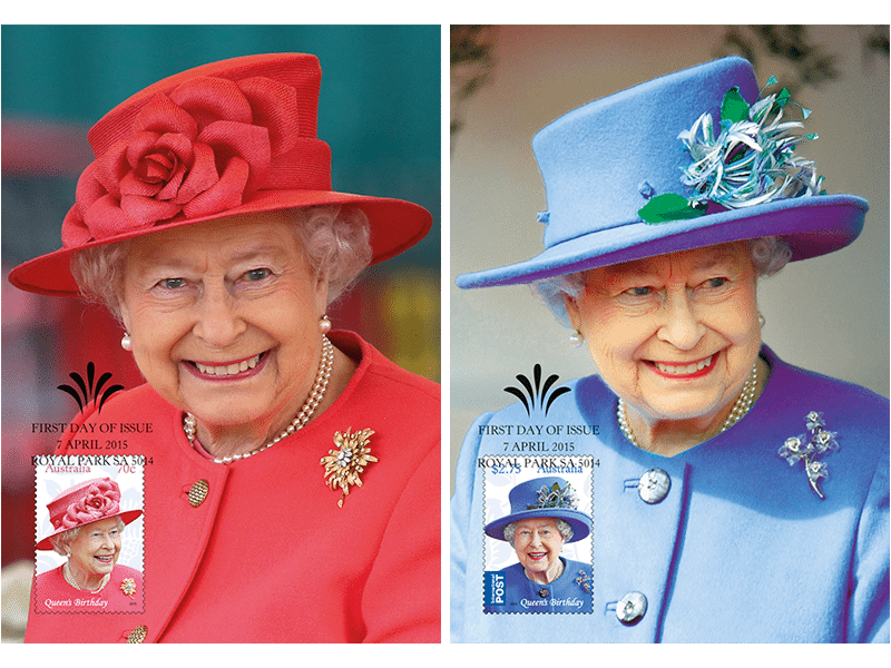 Maxicard set – Queen's Birthday 2015