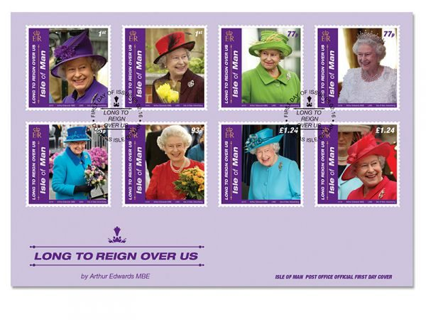 Isle of Man Post Office: Long to Reign First Day Cover