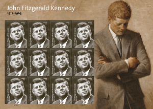President John F. Kennedy's birth celebrated by the USPS. A special Forever stamp is to be issued on Presidents Day