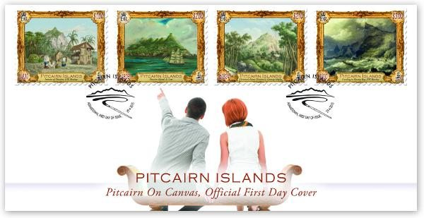 Pitcairn Island: Beautiful Canvas First Day Cover