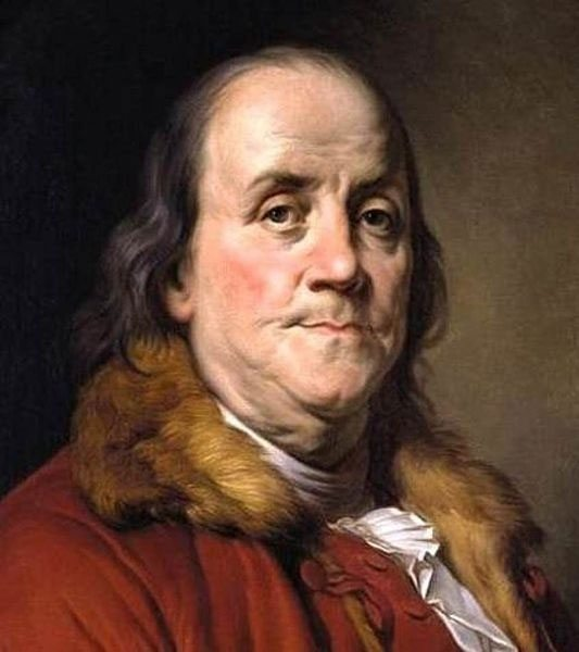 Benjamin Franklin was fired from his postmaster general gig by the British Crown in 1774. He was reappointed postmaster general by himself and other Continental Congress members in 1775.