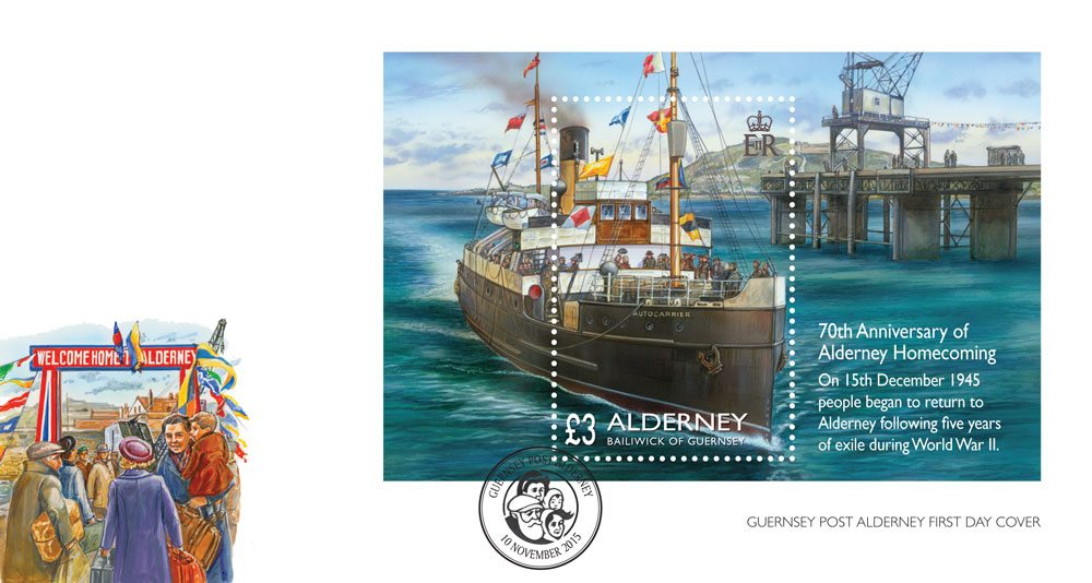 Homecoming for the people of Alderney First Day Cover