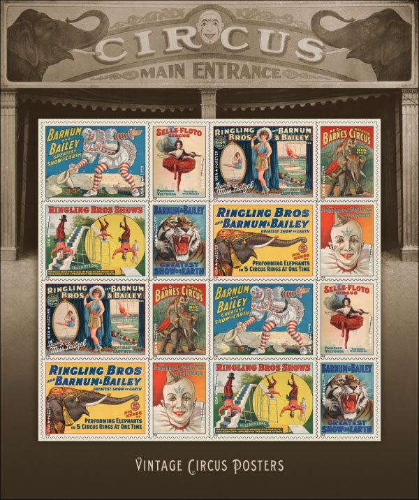 Main stamp of the year 2014: Vintage Circus Posters