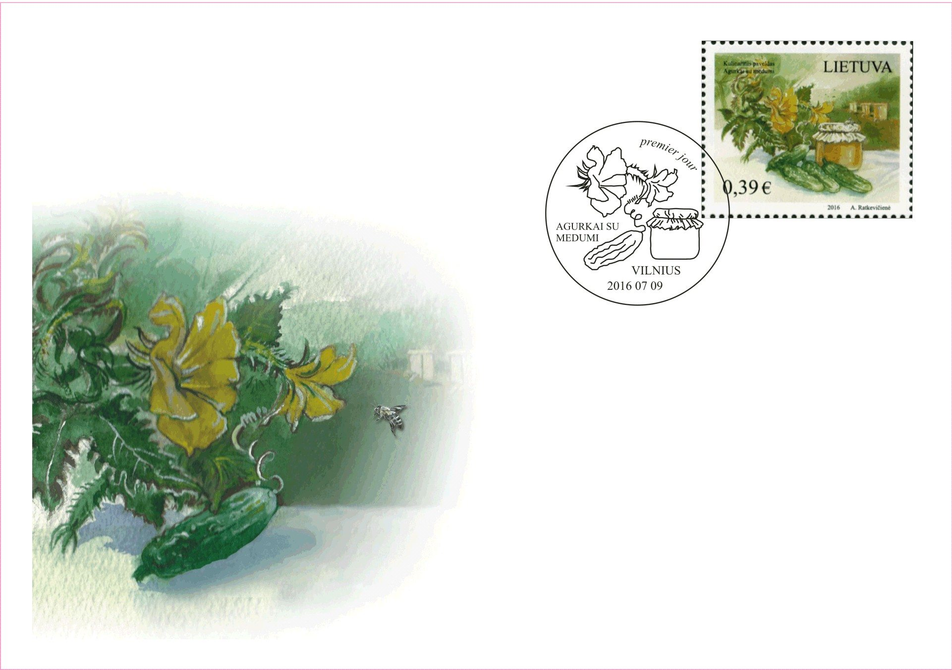 Lithuania Post: Gastronomic Heritage of Lithuania First Day Cover