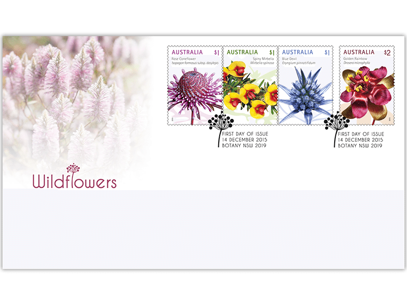 Australia Post: First day gummed stamp cover – Wildflowers