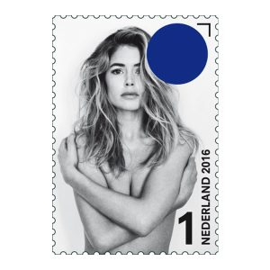 Seductive stamps depicting supermodel Doutzen Kroes in a series of poses taken by Anton Corbijn