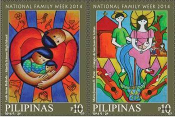 #10.   National Family Week stamps