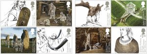 Discover Ancient Britain with a new philatelic release by Royal Mail. 8 special stamps have been prepared for issuance