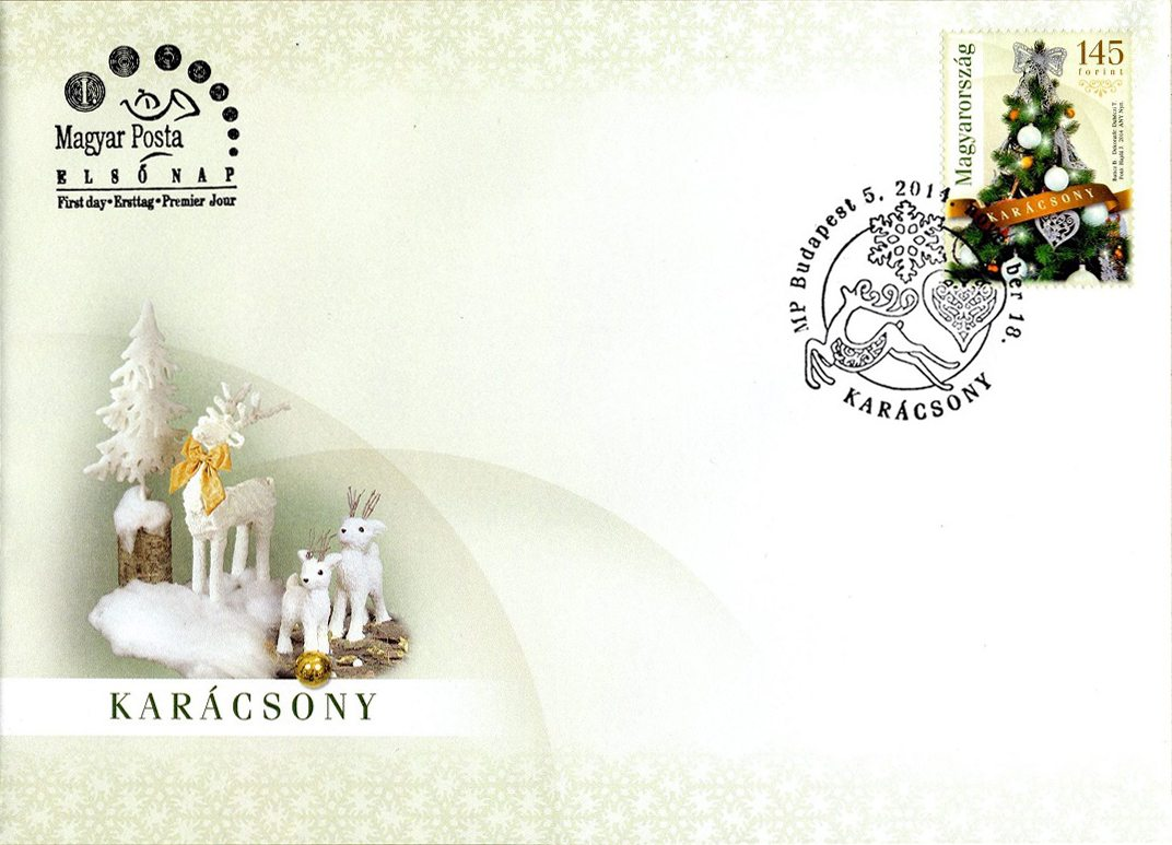 Magyar Posta Christmas 2014 First Day Cover