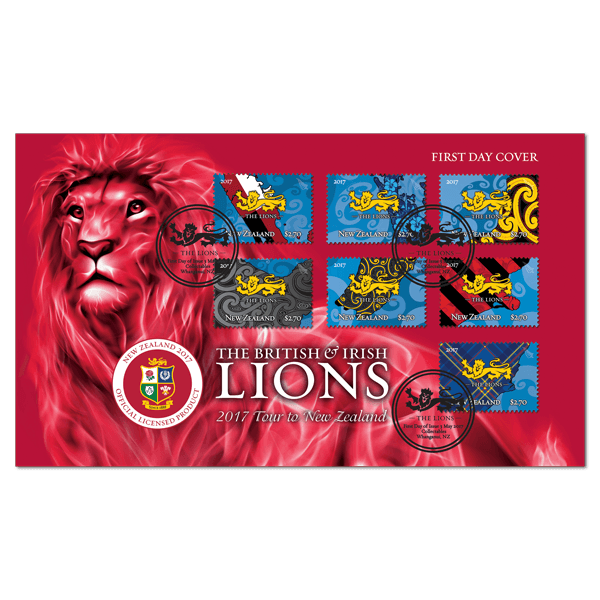 The British & Irish Lions 2017 Tour to New Zealand First Day Cover