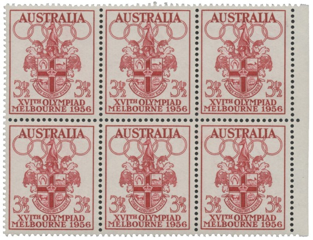 There Were 27 Million Of 1956 Melbourne Olympic Stamps Printed But None Them Released Doe A Public Sale Only Small Number Uncut Sheets And