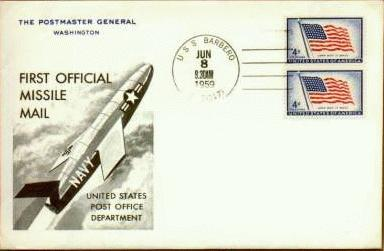 Missile Mail cover launched from USS Barbero