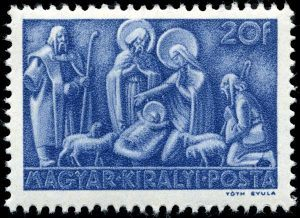1943 Hungarian stamps to be the first real Christmas stamps