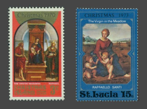 Retample Ansidli (left) and Mary of the Meadows (right) on stamps