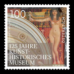 Austria Post: Nude female figure holding the Ankh, the Egyptian symbol of life, in her hand