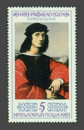 Agnolo Doni on stamps