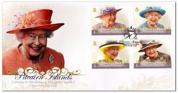 Pitcairn Islands Post: Elizabeth's II birthday First Day Cover