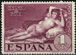 It is considered that the first stamps featuring nude female body were issued by Spain in 1930