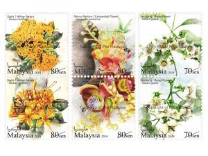 Top Extraordinary Stamps 2016: Eighth Place - Jasmine Flowers stamps by Malaysia Post