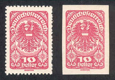 Stamp perforation