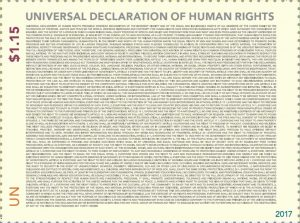 Universal Declaration of Human Rights - UNPA stamps 2017