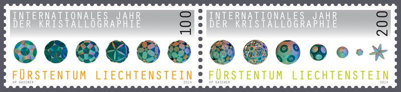 Liechtenstein Post received an award for its International Year of Crystallography stamps