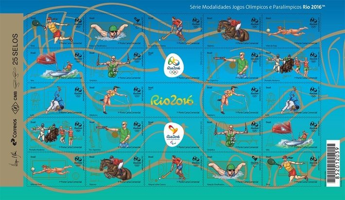 Rio 2016: The final batch of 11 sport-themed stamps come in sheets of 25
