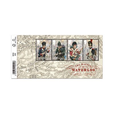 Battle of Waterloo Miniature Sheet of Stamps