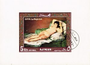 Ajman: The Naked Maja postage stamp
