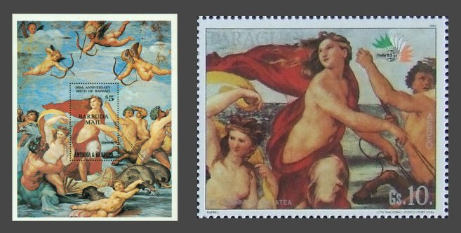 The great fresco of Galatia on stamps