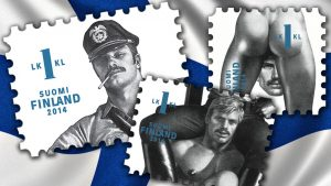 One of the most scandalous stamps issues on the theme of nudity was presented by Finnish Post