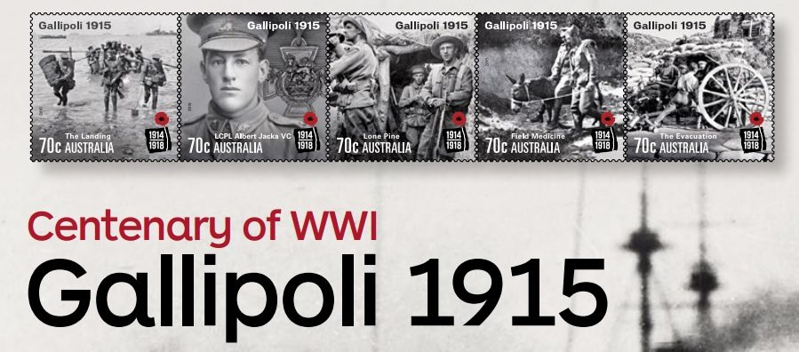 The events of Gallipoli campaign remembered by Australian stamp issue