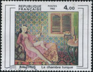 French Republic Post: Balthus - Nude Girl