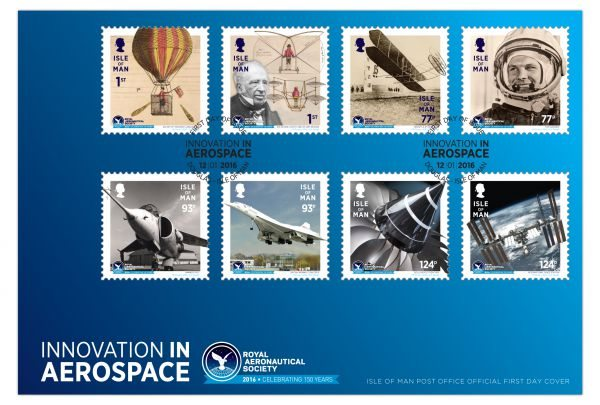 Isle of Man Post Office: Royal Aeronautical Society 150th Anniversary First Day Cover