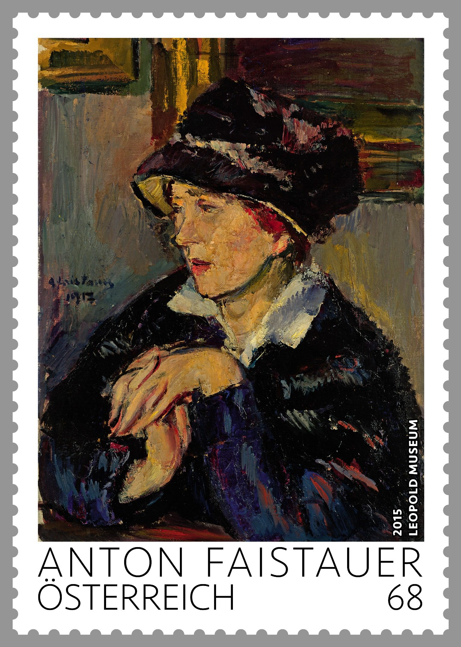 "New stamp from the series ""Modern Austrian Art"" is introduced by Austria Post"