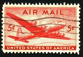 Airmail Stamp For Payment Of Service The Term Or An Equivalent Is Usually Printed On Special Stamps