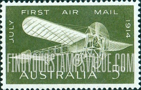 1914 5d First Airmail Australia Stamp Value