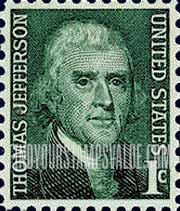 1 Cent Stamps Thomas Jefferson Stamp Value