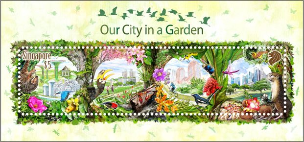 Our City In A Garden Stamps Collection From Singapore World