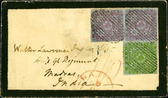 The unique Nova Scotia 1851 pair cover to star in November stamp auction
