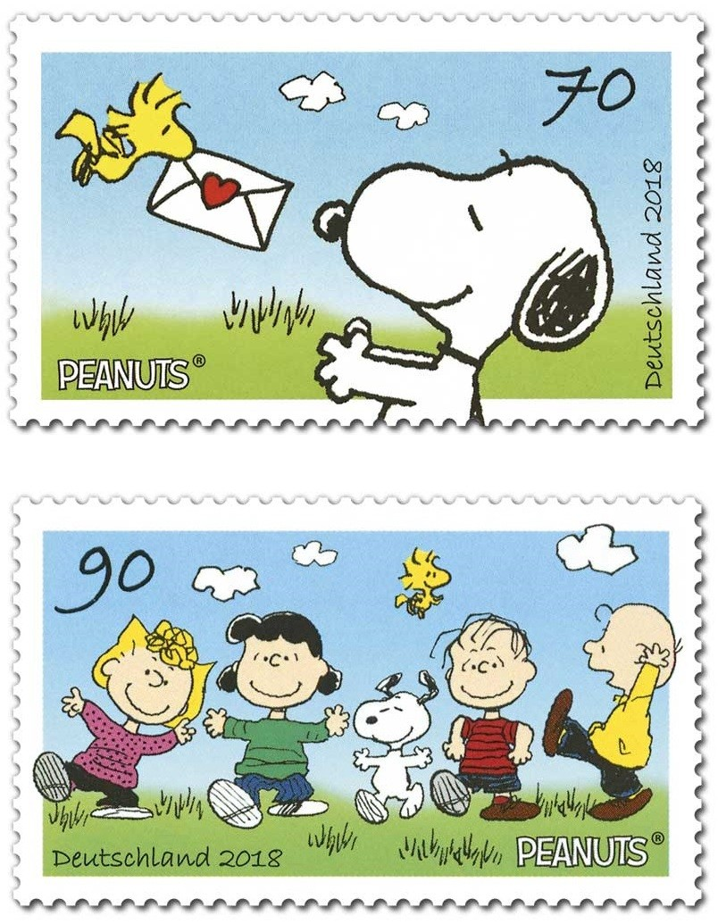 The Characters Of Famous Peanuts Appeared On New Set Two Cute And Funny Stamps Launched By German Post This TV Series Is One Most