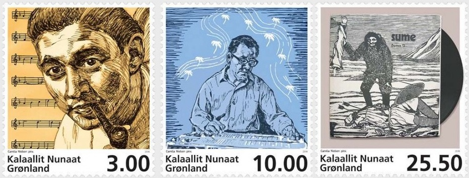 Music In Greenland Three Special Stamps Released By Greenland Post