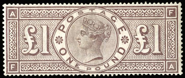 £1 brown-lilac stamp, 1884