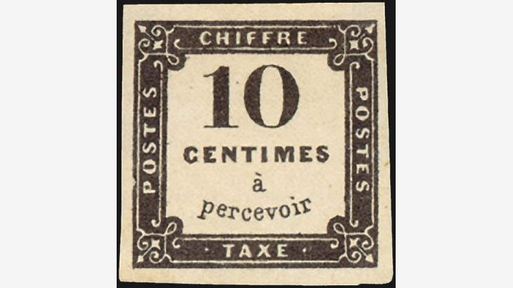 10c Postage Due stamp, 1859