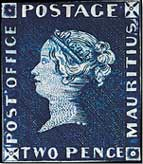 Post Office Mauritius, 1847 rare stamp