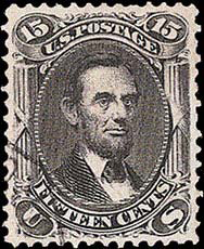 ABRAHAM LINCOLN, 1867 rare stamp