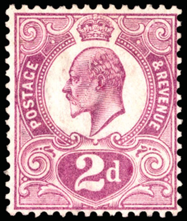 The Tyrian Plum stamp